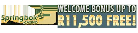R11'500 Welcome Bonus At Springbok Casino