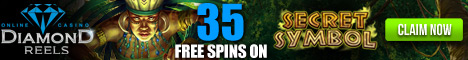 Diamond Reels Secret Symbol - 35 Free Spins Promotion