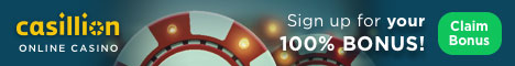 Casillion Casino - Sign Up For Your 100% Bonus