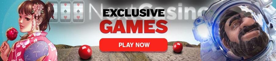 Nextcasino exclusive games